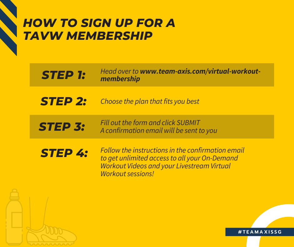 How to sign up for a TAVW Membership