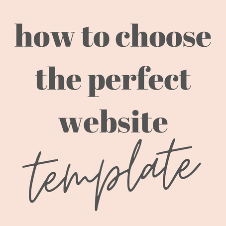 How to choose the perfect website template for your business