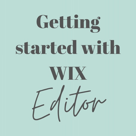 Getting started with WIX | WIX Editor Basics