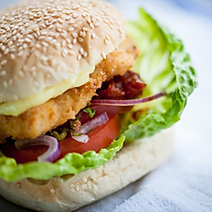 FRIED TOFU BURGER