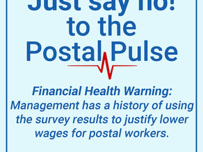 Just Say NO! to the Postal Pulse Survey!