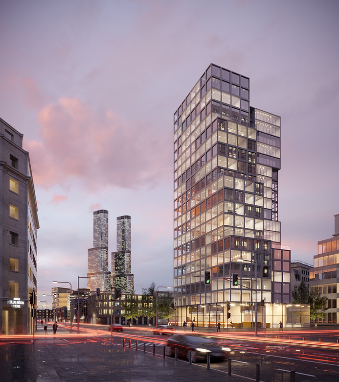 architectural visualisation of commercia