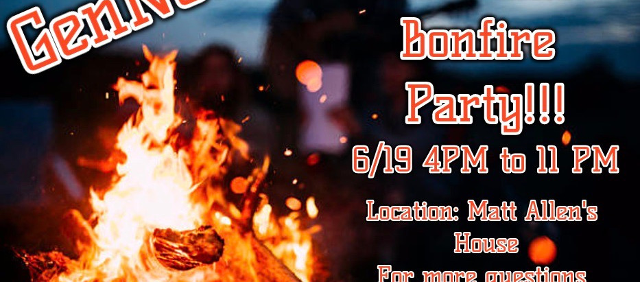 GenNow Pool and Bonfire Party!!!