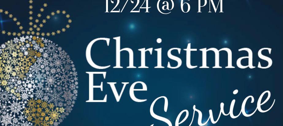 Christmas Eve Candlelight Service!