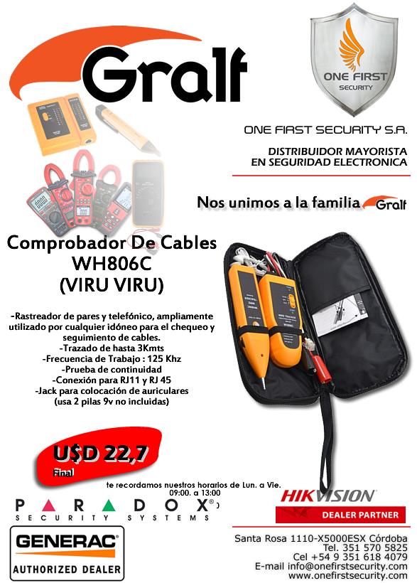Comprobador De Cables WH806C (VIRU VIRU)