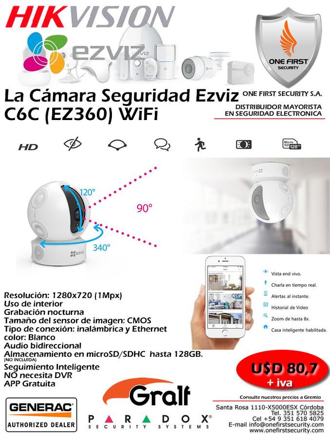La Cámara Seguridad Ezviz C6C (EZ360) WiFi