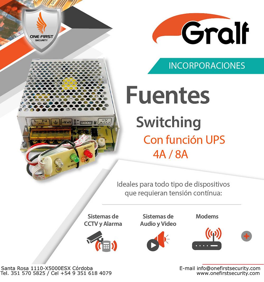 Fuentes UPS 12V - 4A/8A