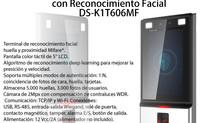 One First Security te ofrece Control de Acceso con Reconocimiento Facial DS-K1802M HIKVISION