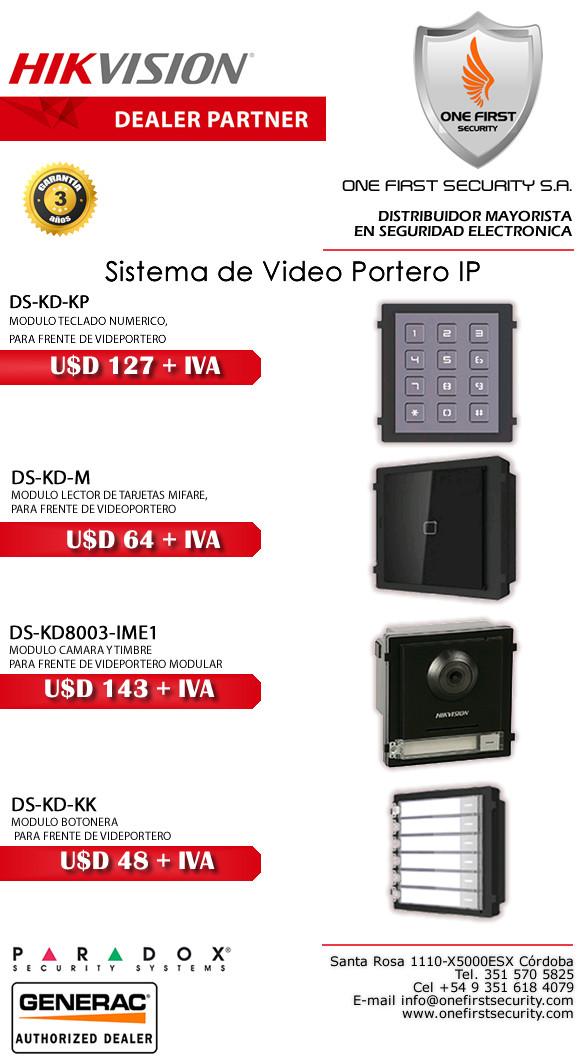 Sistemas de Videoportero IP HIKVISION