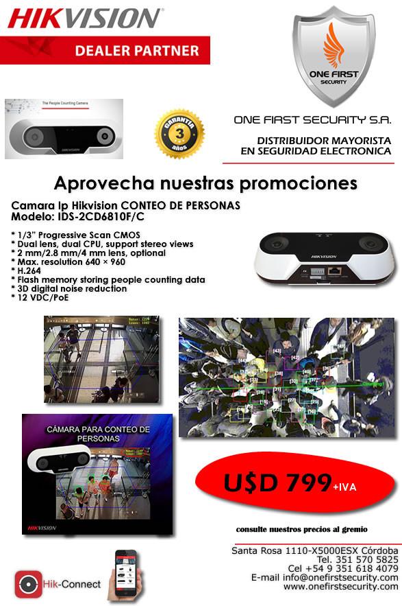 Camara Ip Hikvision CONTEO DE PERSONAS Modelo: IDS-2CD6810F/C