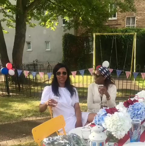 Picnic in the green celebrating the red, white and blue