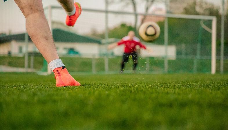 Doel van het voetbal Shot