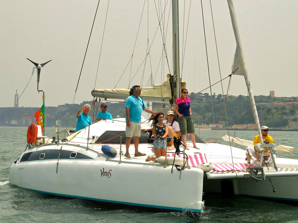 Catamaran for romantic tour