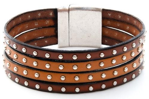 Studded Saddle Leather