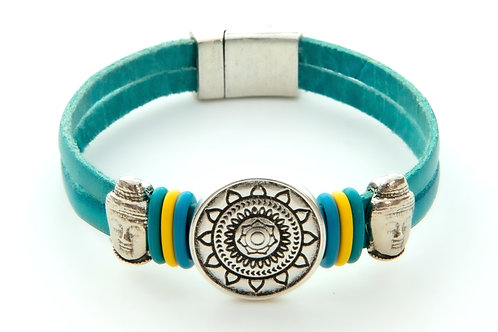 Footsteps of Buddha in Turquoise
