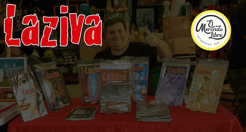 Los cómics de Laziva estarán a la venta en El Mercado Libre en Santurce.