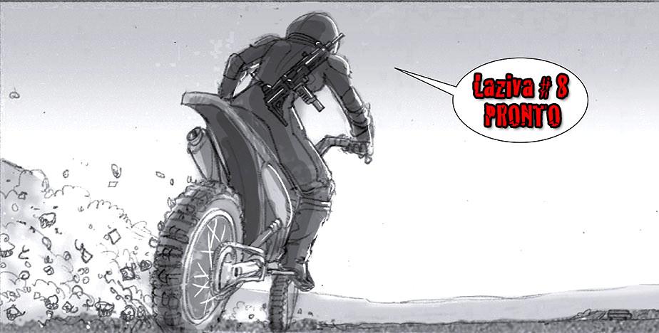 A donde va Laziva en esa moto