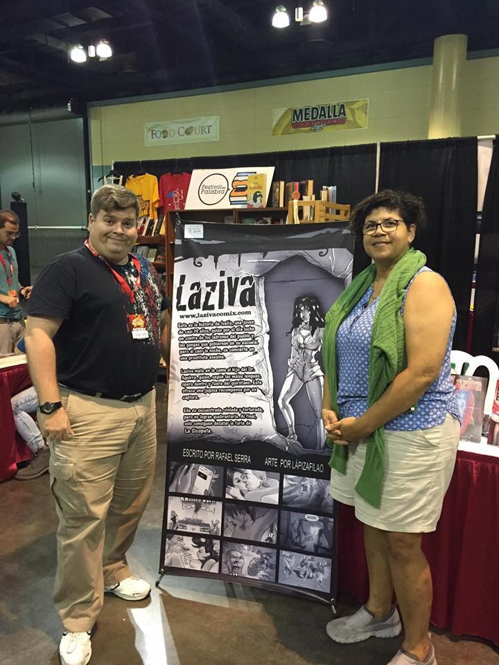 Team Laziva: el escritor Rafael Serra y la artista LápizAfilao