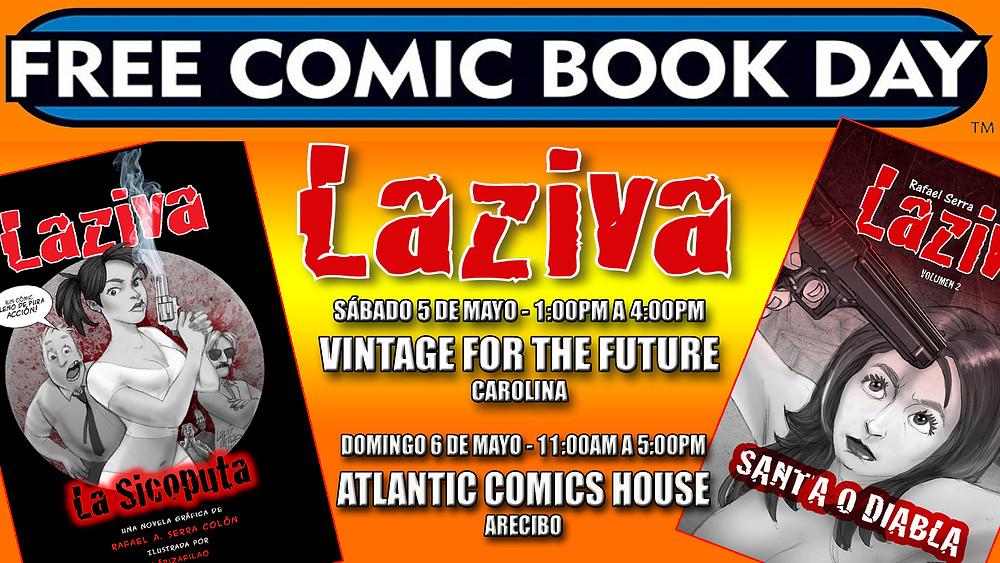 Laziva en el Free Comic Book Day 2018