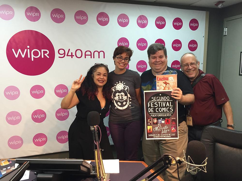 Anamín Santiago, Eliana Falcón, Rafael Serra, Eric Pérez