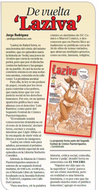 De Vuelta 'Laziva' a El Vocero