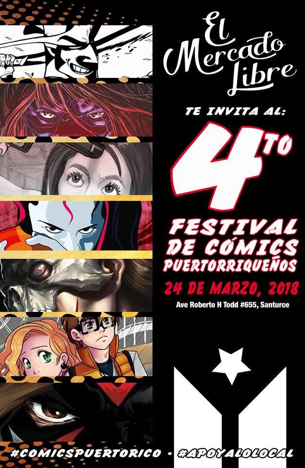 Poster conmemorativo del 4to Festival de Comics Puertorriqueños