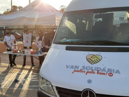 Projeto Van Solidária é destaque no SPTV1, da Globo