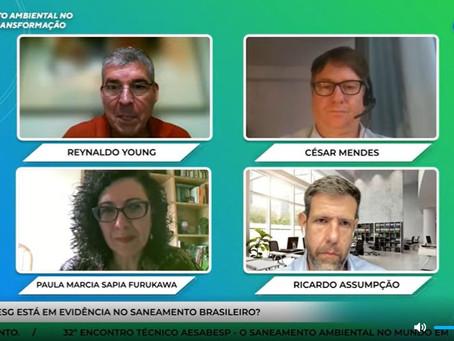 Ricardo Assumpção, CEO da Grape ESG, integra discussão do 32º Encontro Técnico AESabesp/Fenasan 2021