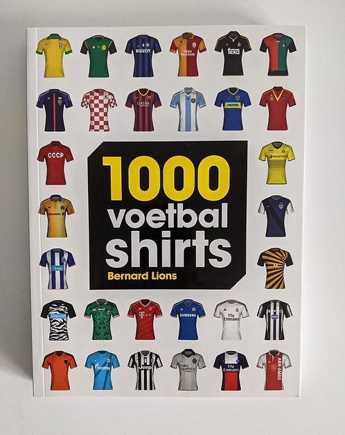 Boek  1000 voetbalshirts