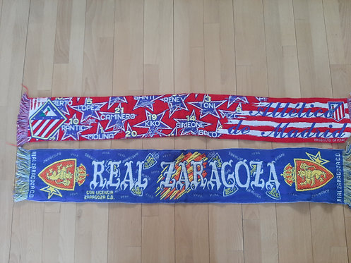 Sjaals Atletico de Madrid en Real Zaragoza