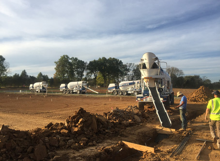 Servicing Ready Mix Concrete to Nashville, Tennessee.