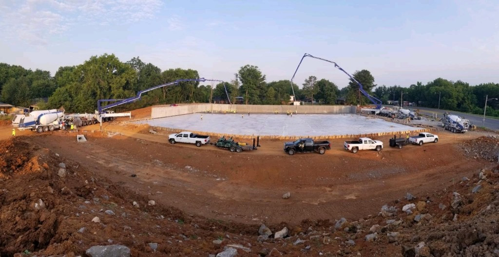 Drone Image Of The Pour.
