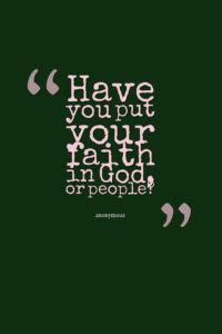 faith in God?