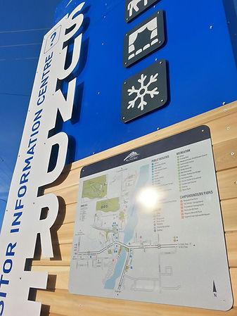 Visitor Information Sign