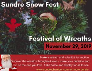 Snow Fest: Wreath Poster