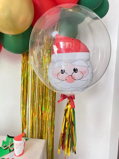 "Bubble 24""  Santa Balloon"