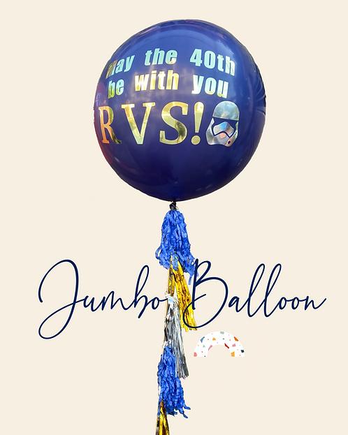 Jumbo Balloon with Tassel and Custom Text