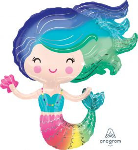 Helium-inflated Colorful Mermaid
