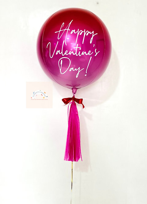 Red Pink Ombré Orbz Balloon