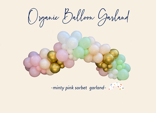Minty Pink Sorbet Garland
