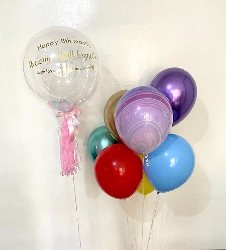 "Bubble 20"" Greeting and Regular Balloon Bundle"