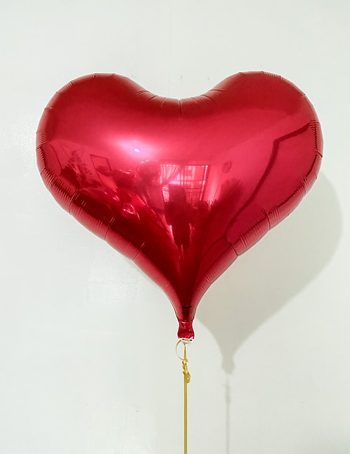 Jelly Metallic Red Heart