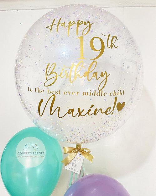 """Bubble 24"""" Greeting Dippin' Dots Balloon"""