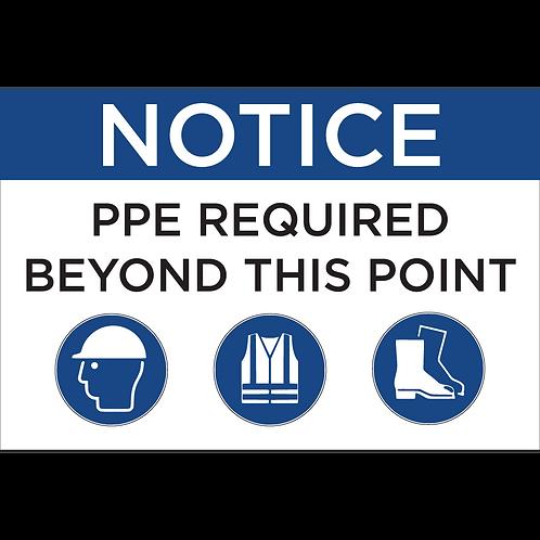 PPE Sign - Hat/Vest/Boots