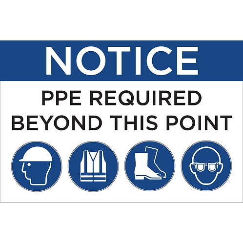 PPE Sign - Hat/Vest/Boots/Glasses