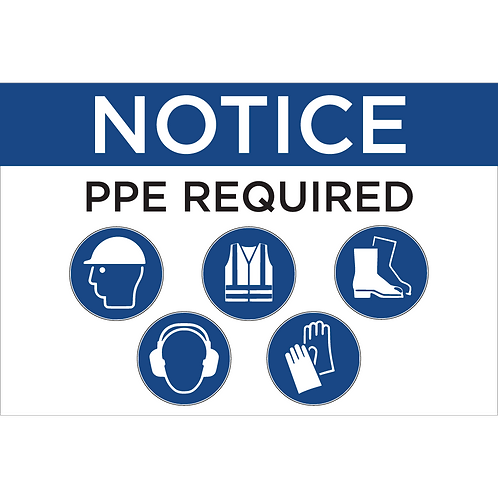 PPE Sign - Hat/Vest/Boots/Ear/Hands