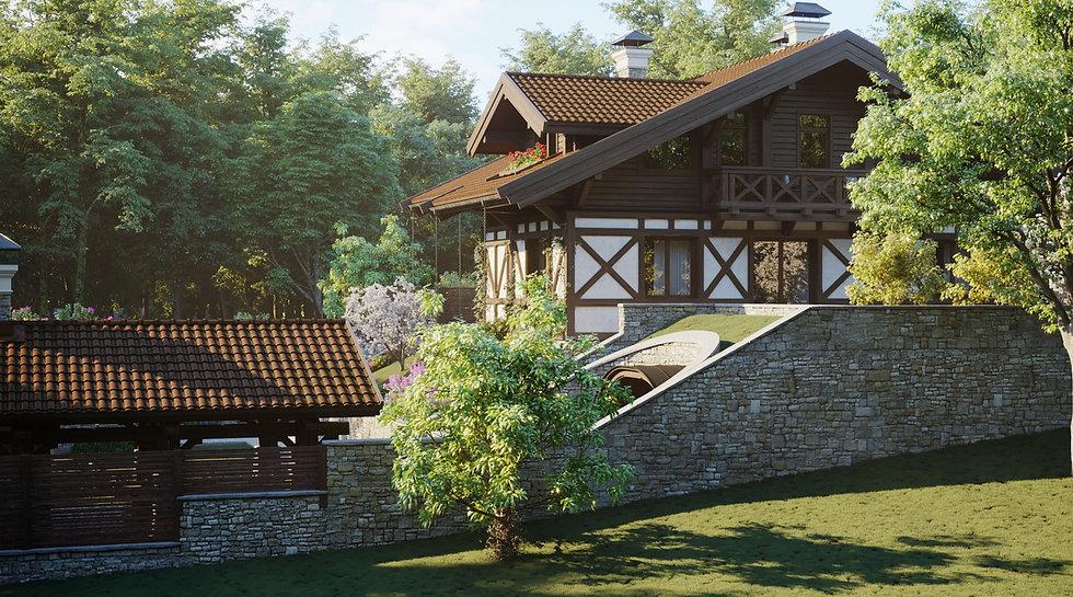 шале|Сочи|архитектор|дизайнер|Сочи дом из камня|Дом на склоне|красивые дома из камня|красивые дома|кирпичные дома|дом в стиле шале
