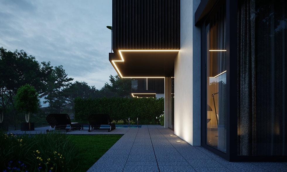 дом с бассейном, минимализм, дом в современном стиле, дом в Сочи, дом на склоне, архитектор Сочи, Максим Любецкий, архитектор Любецкий