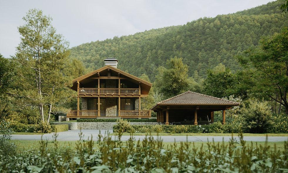 Дом в горах, шале, дом в Грузии, архитектор Любецкий, архитектор Сочи
