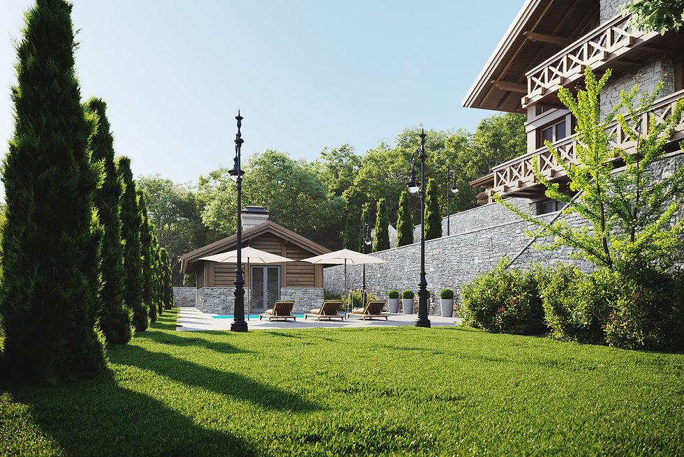 дом на склоне, шале, сочи, архитектор Максим Любецкий